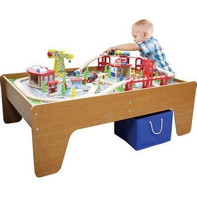 brio activity table new large wooden train set table nib activity center for