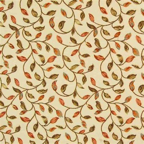 Kewtrailing Leaf Curtain Fabric Terracotta 137cm Curtain