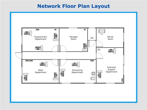 schematic floor plan conceptdraw sles computer and networks computer