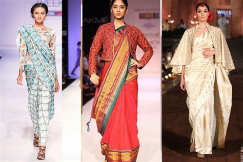 how to drape sari drape a sari yet stay warm in winter indiatimes com
