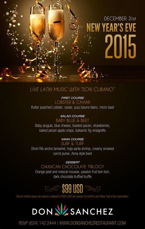 new year event 2015 new year s 2015 dinner at don events los cabos