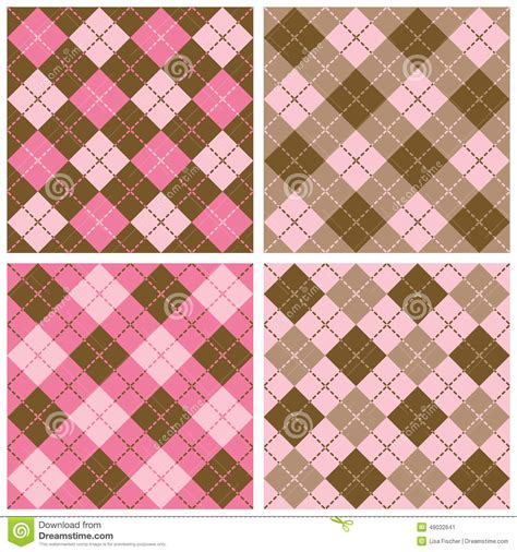 pattern brown pink plaid argyle pattern in pink and brown stock vector