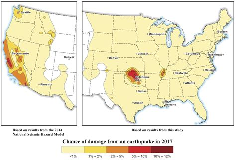 earthquake prediction map m 4 2 earthquake in oklahoma widely felt throughout