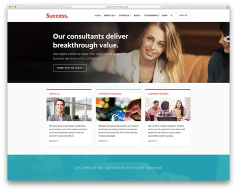 Net Consultant by 20 Best Business Consulting Themes 2018 Colorlib