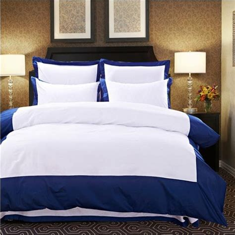 Hotel Quilts And Comforters by 2015 Color Hotel Comforter Duvet Cover King Size 4pcs White Blue Bedding Set Home Jpg