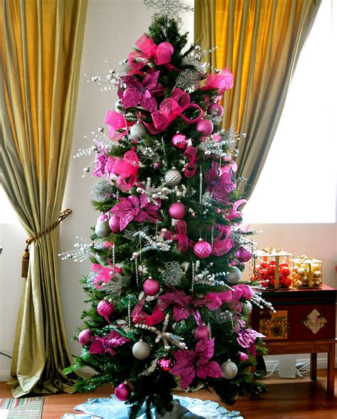 pretty dark pink christmas tree pictures photos and