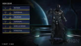 Injustice 2 e3 2016 batman gear menu injustice online