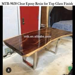 top en verre 201 poxy r 233 sine pour table en bois et meubles