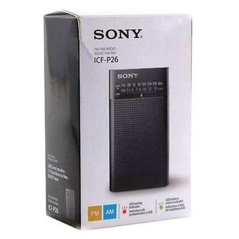 jual sony icf p  fm portable pocket radio  lapak