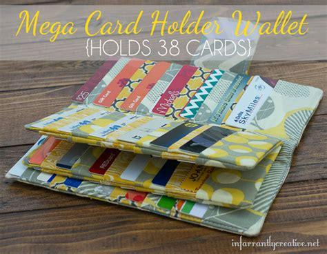 make your own credit card holder mega credit card wallet sewing tutorial creative gift