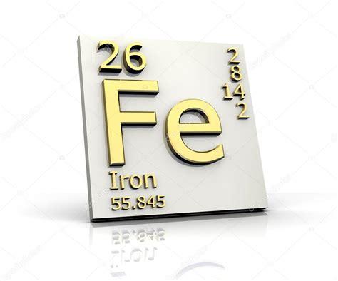 ferro tavola periodica ferro forma tavola periodica degli elementi foto stock