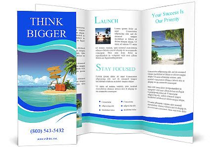 ocean island voucher bags brochure template design id