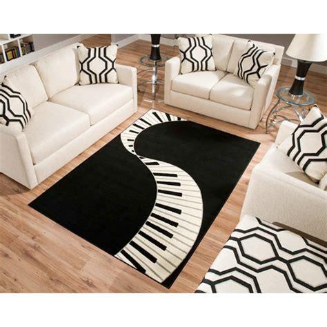 piano keyboard rug terra piano rectangle area rug black white walmart