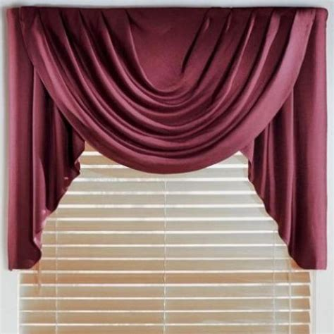 cascade valance curtain jcpenney supreme cascade swag set valances 50 quot width or
