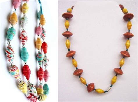 Of Paper Jewellery - diy how to make paper necklaces