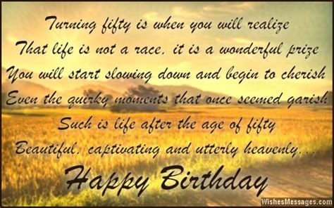 Happy Birthday Quotes For 50 Year Olds 50th Birthday Wishes Quotes And Messages Wishesmessages Com