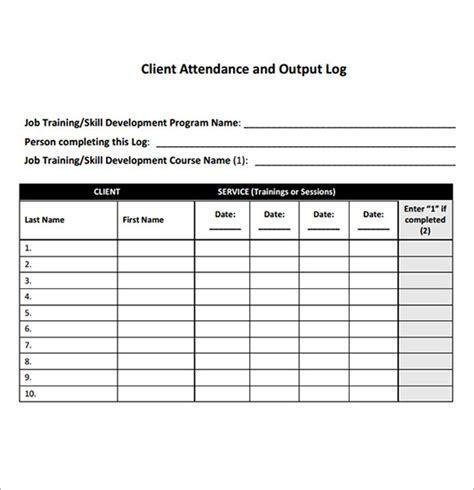 excel attendance template attendance sheet template monthly