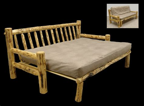 futon frame only rustic mountain hewn futon couch frame only