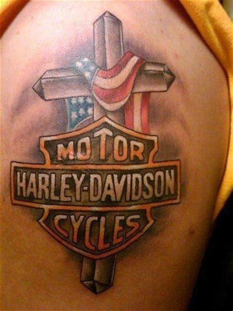 biker cross tattoos 78 best images about harley davidson tattoos on