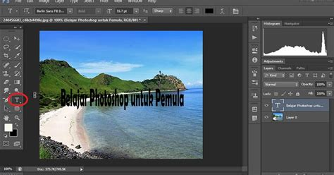 membuat watermark transparan photoshop membuat efek teks transparan menyatu dengan background
