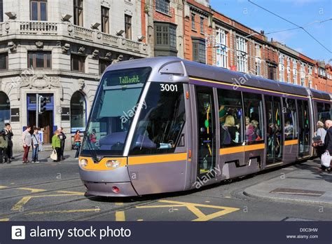 Light Rail System by Busy Luas Light Rail System Tram In City Centre