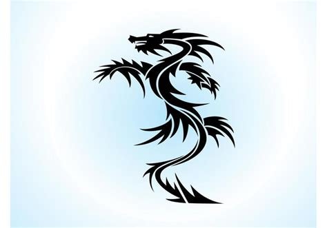 dragon vector tattoo download free vector art stock