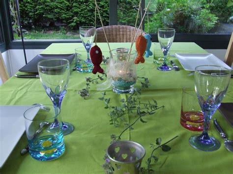 d 233 co de table improvis 233 e avec mes poissons tricot 233 s l