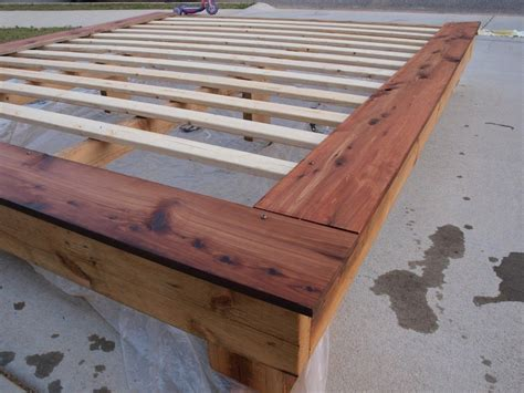 king size platform frame    home projects