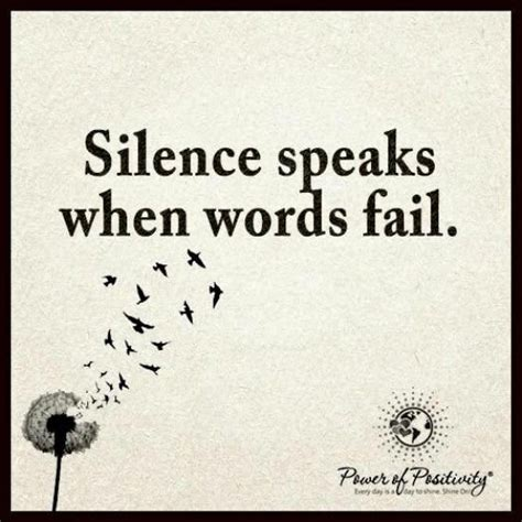 silence speaks  words fail quote  images