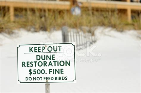 Home Design Contents Restoration by Sand Dune Restoration Sign On Beach Stock Photos