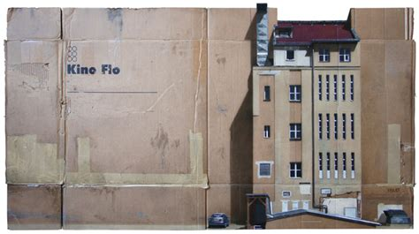 spray paint on cardboard cityscapes spray painted on cardboard panels by evol