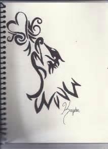 Tribal Wolf Drawing By Misskaydea On Deviantart
