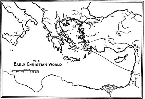 paul s second journey coloring page free paul journey coloring pages