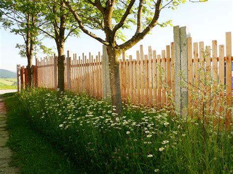 unkrautbekämpfung im garten zaun sichtschutz natur holz gartengestaltung gartenbau