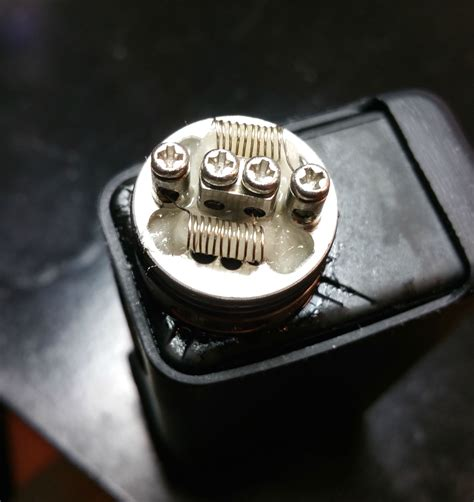 Tear Post Top Tearoffpost Dual Golg my coil build 30g nickel 11 wraps 14遘 coilporn