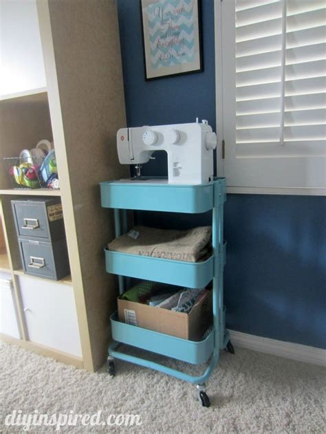 ikea craft cart 36 creative ways to use the r 197 skog ikea kitchen cart