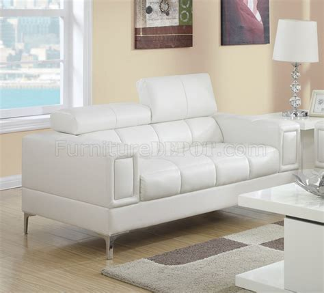 off white loveseat f7240 sofa loveseat set in off white bonded leather by