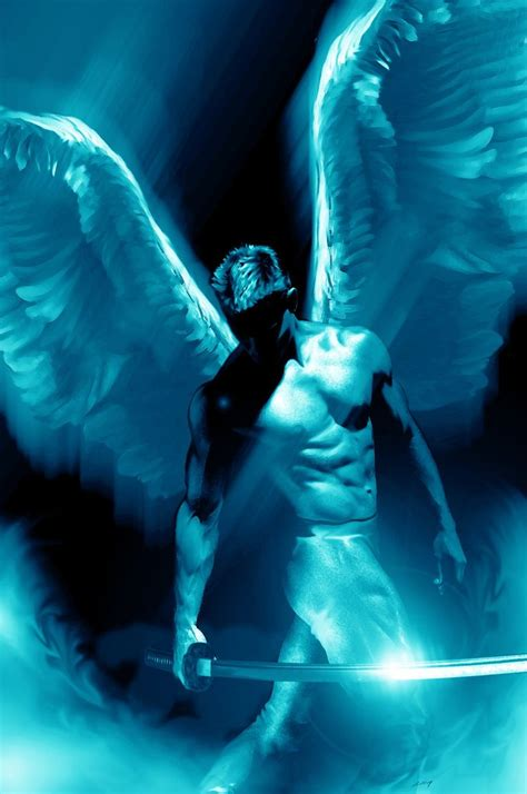 archangel michael warrior angel deveint art of soul saviour warrior angel