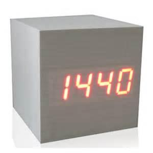 Cool Digital Clocks by Cool Modern Squared Wooden Digital Desk Alarm Clock Sound