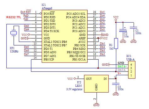 Rb 220 Resistor Ps2 8 Pin tip konverter usb ke rs232 serial s s e
