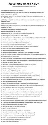 200 questions to ask a the only list you ll need