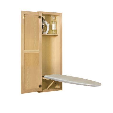 ironing board wall cabinet shop style selections wall mount hideaway ironing board at