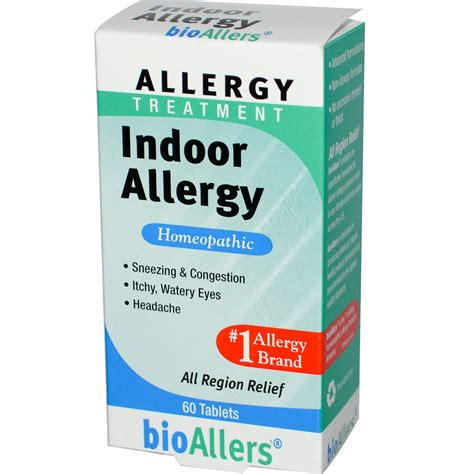 allergy treatment natrabio bioallers allergy treatment indoor allergy 60 tablets iherb