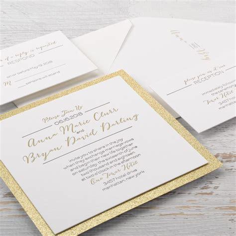 Letterpress Invitations by Bold Gold Letterpress Invitation Invitations By
