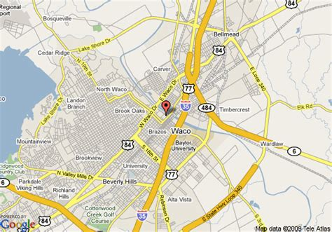 where is waco texas located on the map map of waco waco