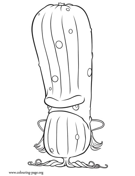 chance of meatballs sour the pickle coloring page