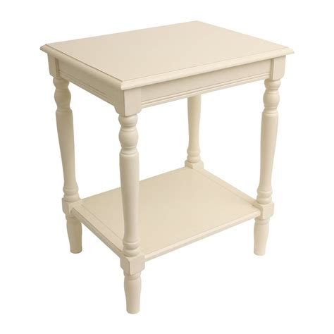 decor therapy end table shop decor therapy simplify antique white end table at