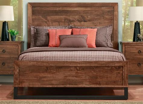 cumberland bed with wood headboard low footboard handstone
