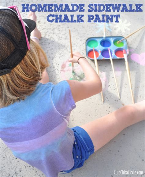 diy sidewalk chalk paint recipe how to make sidewalk chalk paint