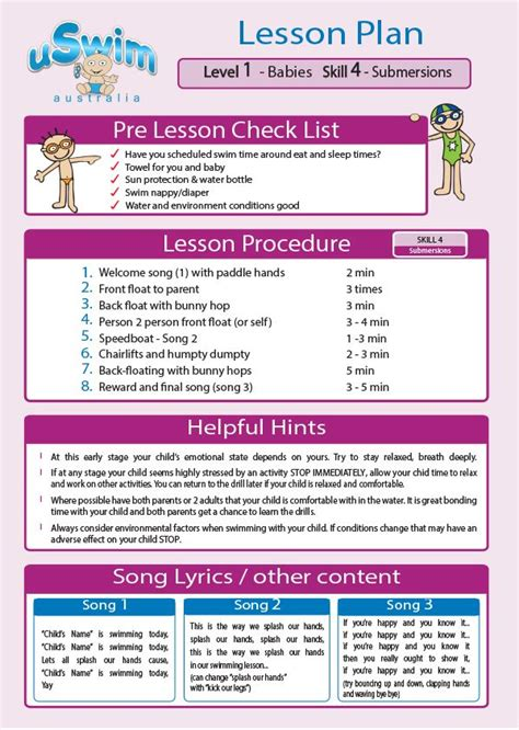 13 best uswim lesson plans images on pinterest swim